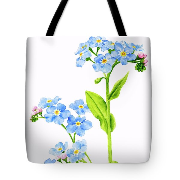 Forget-me-nots On White Tote Bag