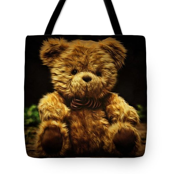 Tote Bag featuring the painting Forgotten Friends by Harry Warrick