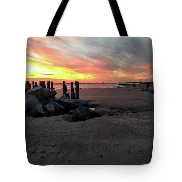 Fort Moultrie Sunset Tote Bag