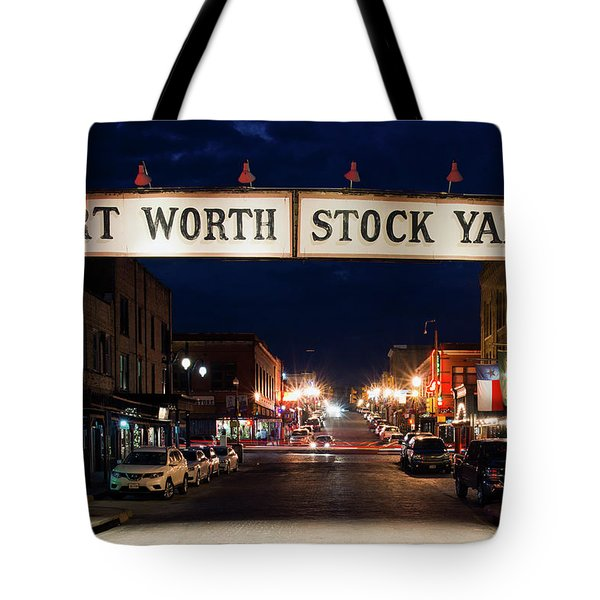 Fort Worth Stock Yards 112318 Tote Bag