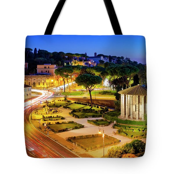 Tote Bag featuring the photograph Forum Boarium by Fabrizio Troiani