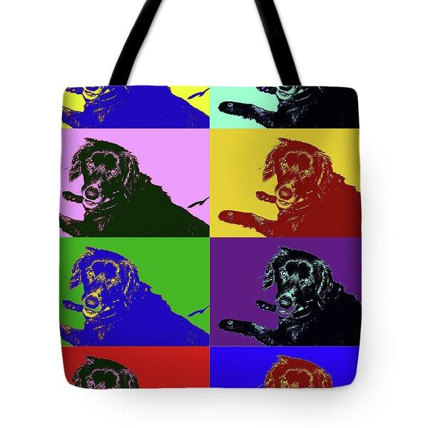 Foster Dog Pop Art Tote Bag