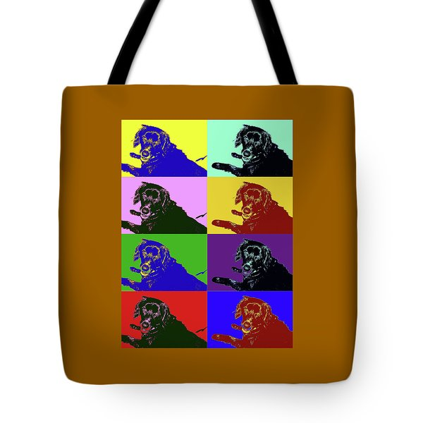 Foster Dog Pop Art Tote Bag
