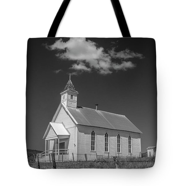 Tote Bag featuring the photograph Fox Community Church by Matthew Irvin