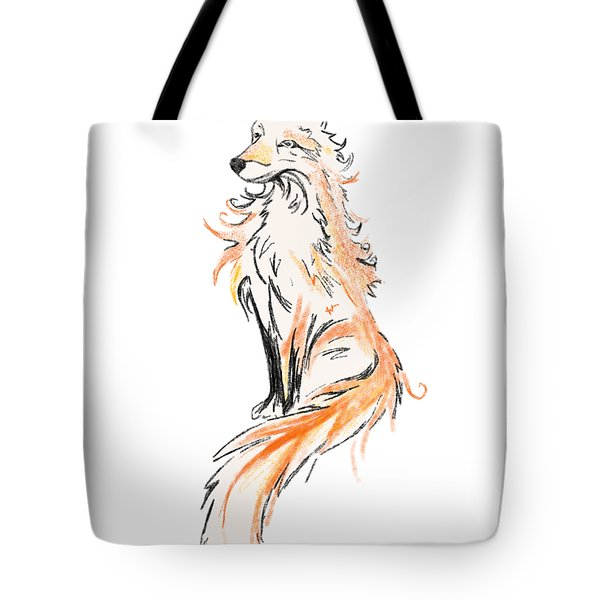 Fox Oil Painting Tote Bag