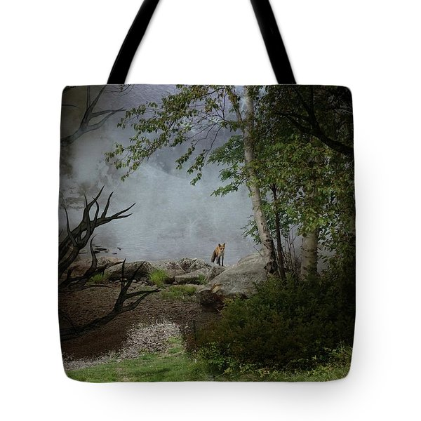 Fox On Rocks Tote Bag