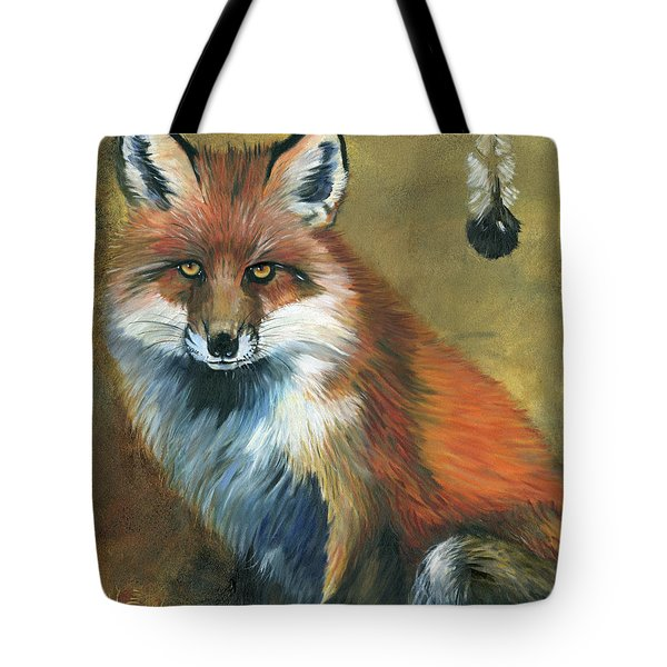 Fox Shows The Way Tote Bag