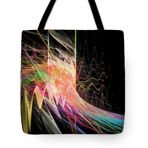 Fractal Beauty Deluxe Colorful Tote Bag