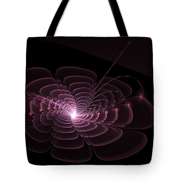 Tote Bag featuring the digital art Fractal Rose by Bee-Bee Deigner