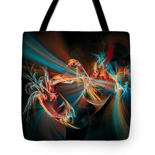 Fractal Spawn Blue Tote Bag