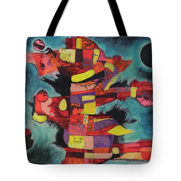 Fractured Fire Tote Bag