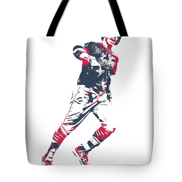 Quilted Cleveland Indians tote bag