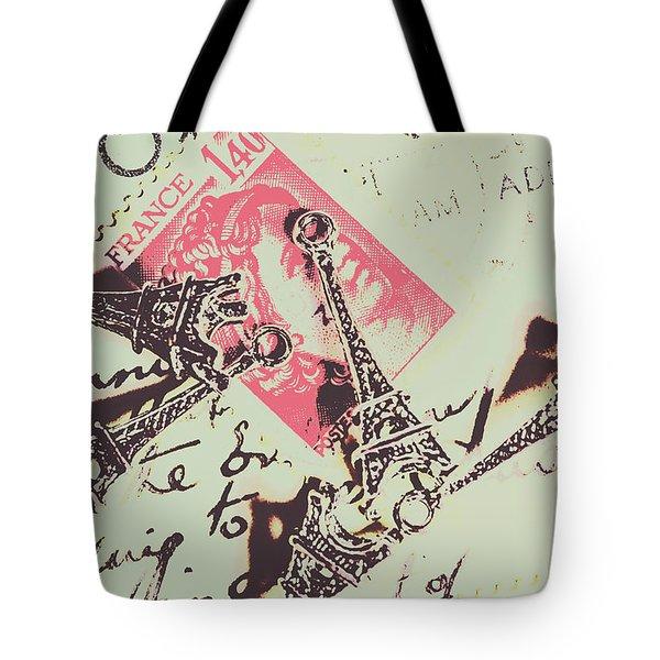 Francs Script Tote Bag