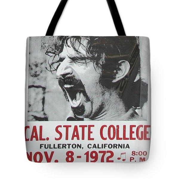 Frank Zappa Alice Cooper 1972 Poster Tote Bag