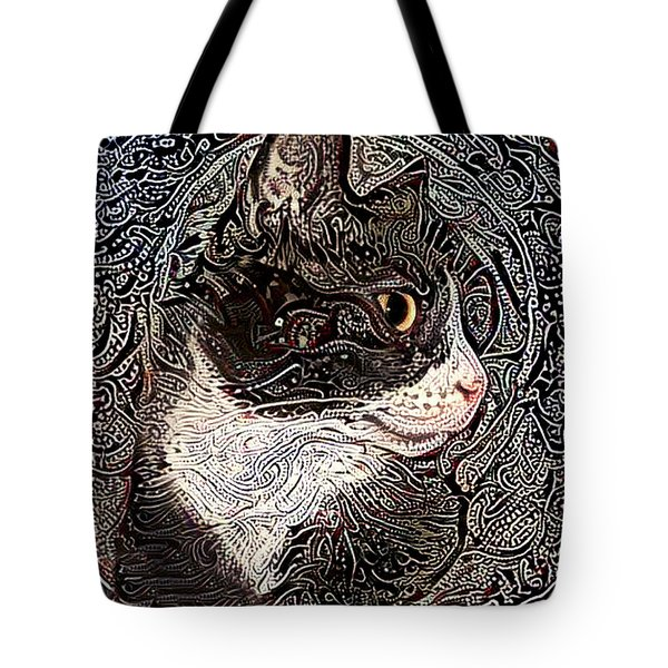Franklyn The Tuxedo Cat Tote Bag