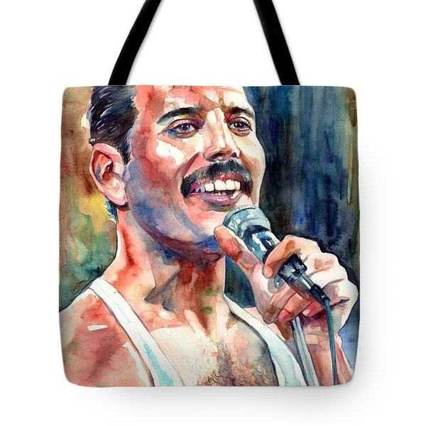 Freddie Mercury Live Aid Tote Bag