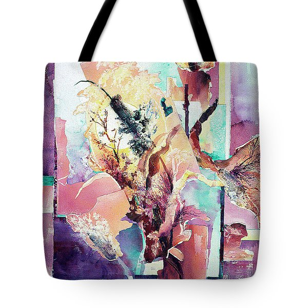 Free-form Cattails Tote Bag