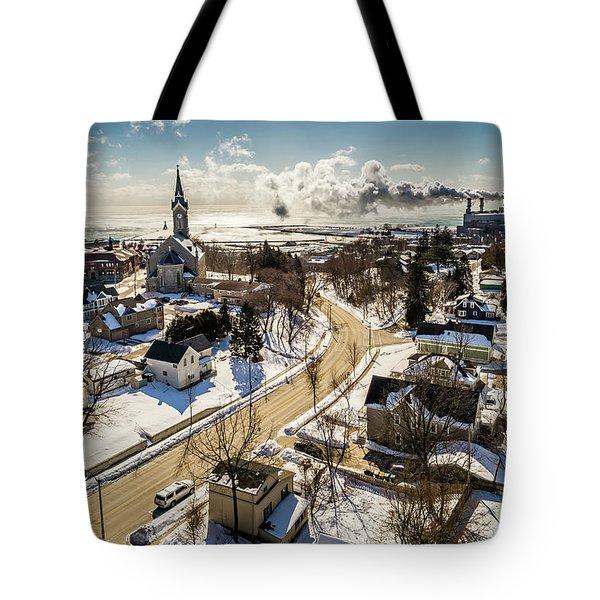 Freezing In Port Tote Bag
