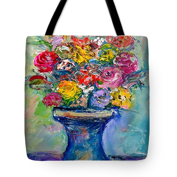 Tote Bag featuring the painting Fresh Flowers by Deborah Nell