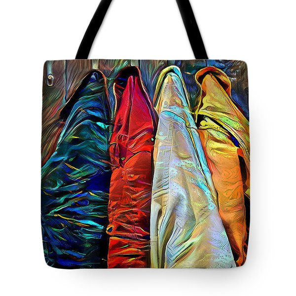 Tote Bag featuring the digital art Friends by Pennie McCracken