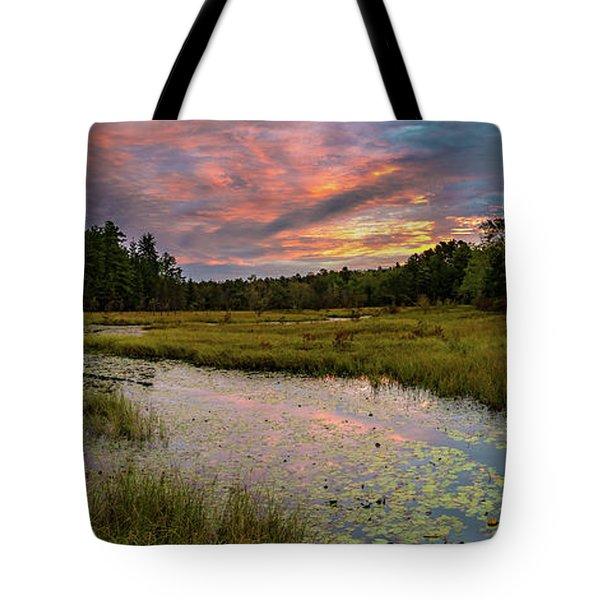 Friendship Panorama  Sunrise Landscape Tote Bag
