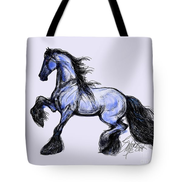Friesian Mare Tote Bag