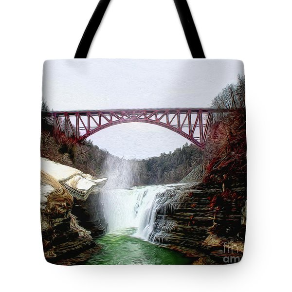 Frletchworth Railroad And Falls Tote Bag