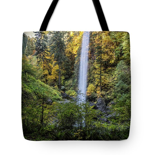 Tote Bag featuring the photograph From Behind The Falls by Matthew Irvin