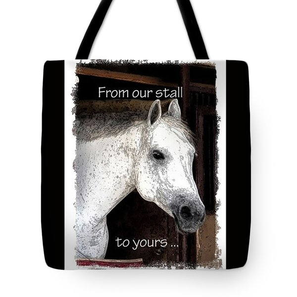 Tote Bag featuring the photograph From Our Stall To Yours by Jerry Sodorff