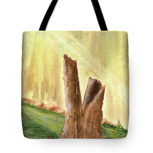 From Ruins Comes New Life Tote Bag