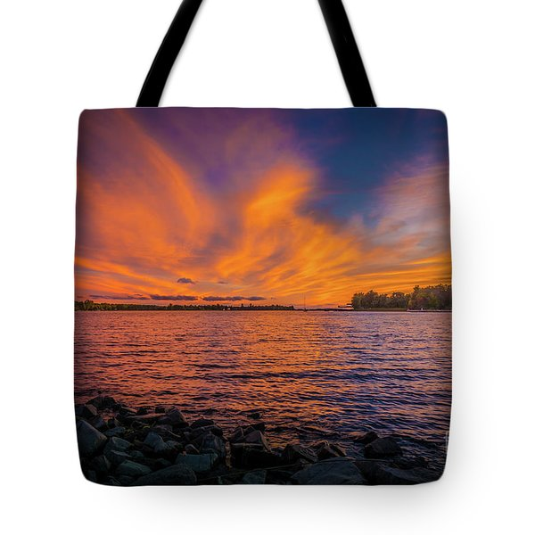 Frontenac Ferry Sunset Tote Bag