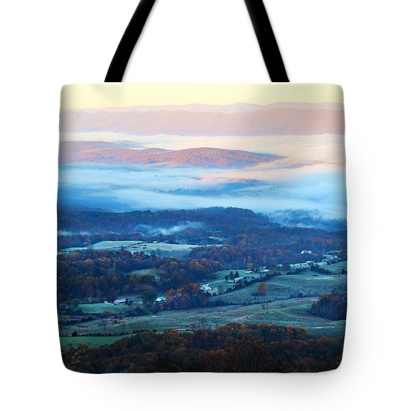 Frosty Autumn Tote Bag