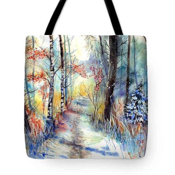 Frosty Blades Of Grass Tote Bag
