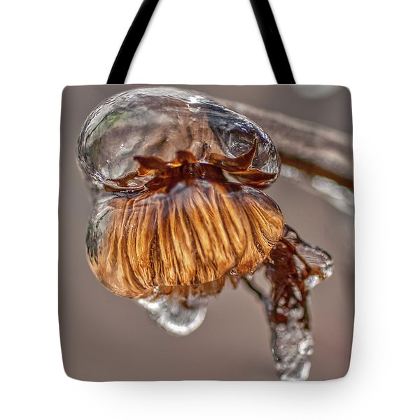 Tote Bag featuring the photograph Frozen Blond by Meta Gatschenberger