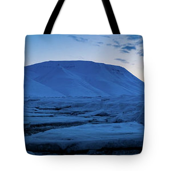 frozen coastline near Longyearbyen Tote Bag