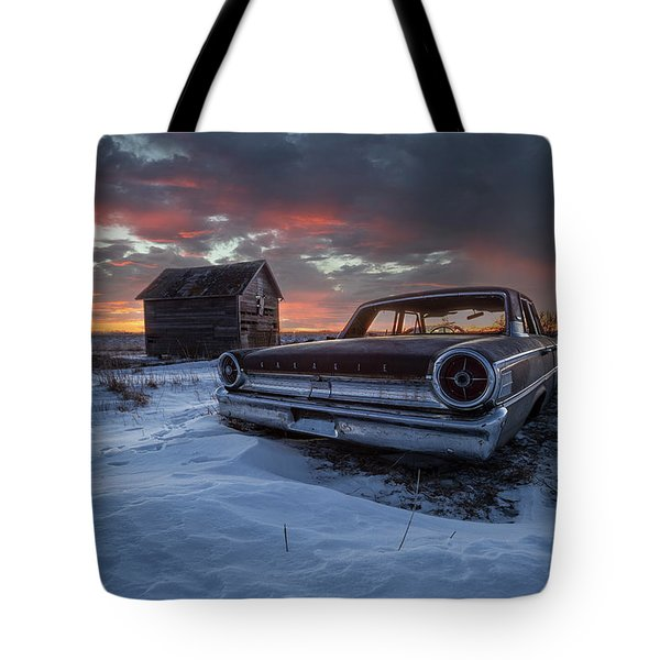 Tote Bag featuring the photograph Frozen Galaxie 500  by Aaron J Groen