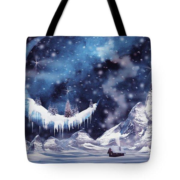 Frozen Moon Tote Bag