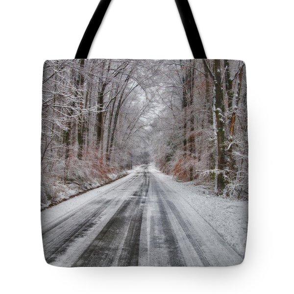 Frozen Road Tote Bag