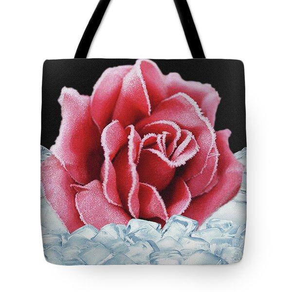 Frozen Rose Tote Bag
