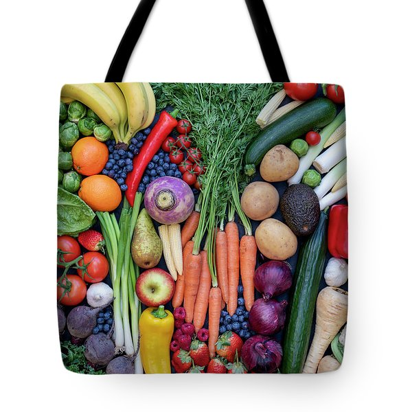 Tote Bag featuring the photograph Fruit And Vegetables by Tim Gainey