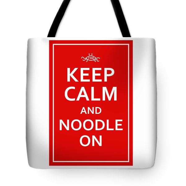 Fsm - Keep Calm And Noodle On Tote Bag