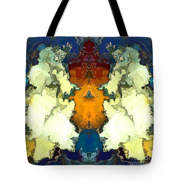 Tote Bag featuring the digital art Fuego  by A z Mami