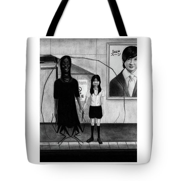Tote Bag featuring the drawing Fukitsuna - Artwork by Ryan Nieves