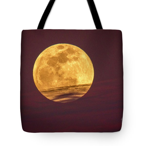 Full Moon Above Clouds Tote Bag
