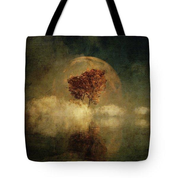Full Moon Over Water Tote Bag