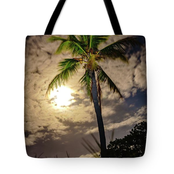 Full Moon Palm Tote Bag