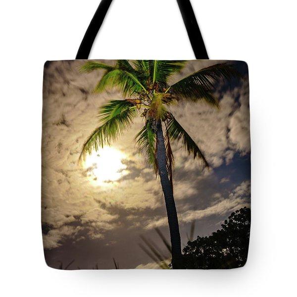 Full Moon Palm Tote Bag
