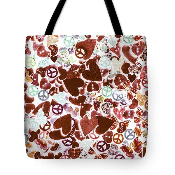 Funky Flower-power Tote Bag