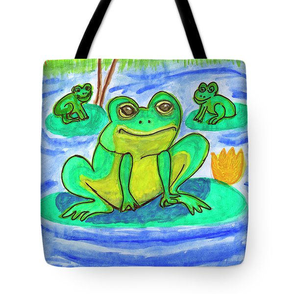 Funny Frogs Tote Bag