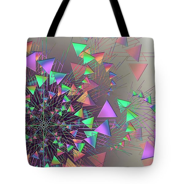 Tote Bag featuring the digital art Fusion by Vitaly Mishurovsky